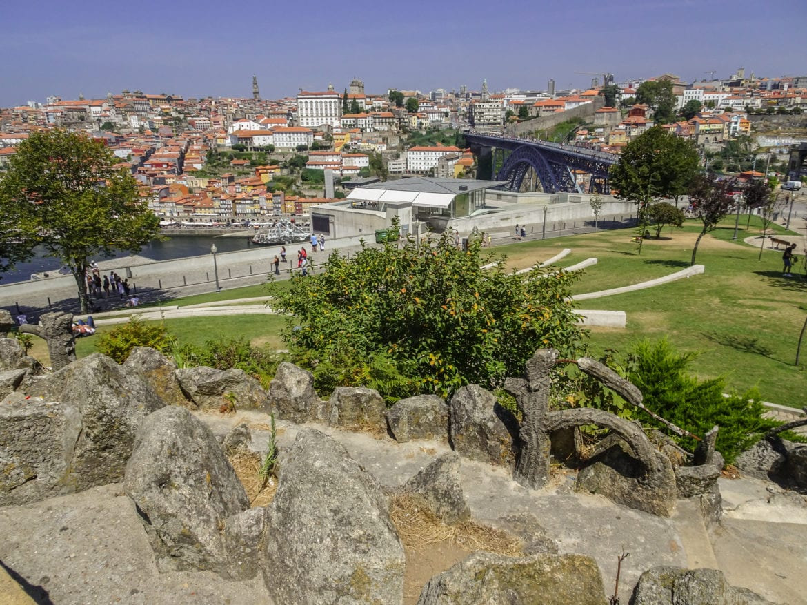 Jardim do Morro in Porto am Jakobsweg Portugal
